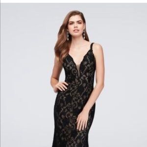 David's Bridal Crystal Lace Mermaid Dress